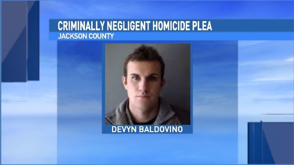 Devyn Baldovino's jail photo at the time of his arrest. (Jackson County Sheriff's Office)