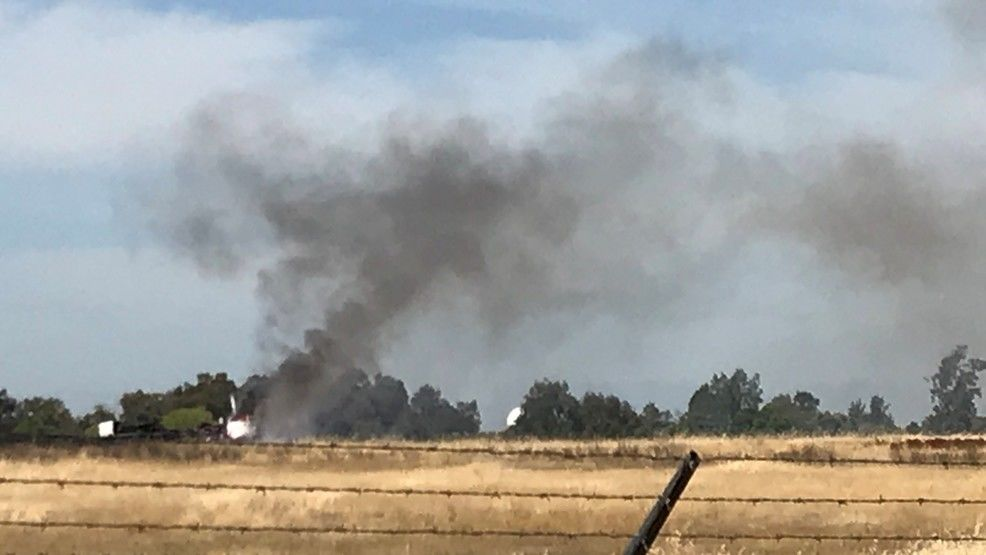 Plane crashes at Oroville Municipal Airport - KRCR photo.jpg