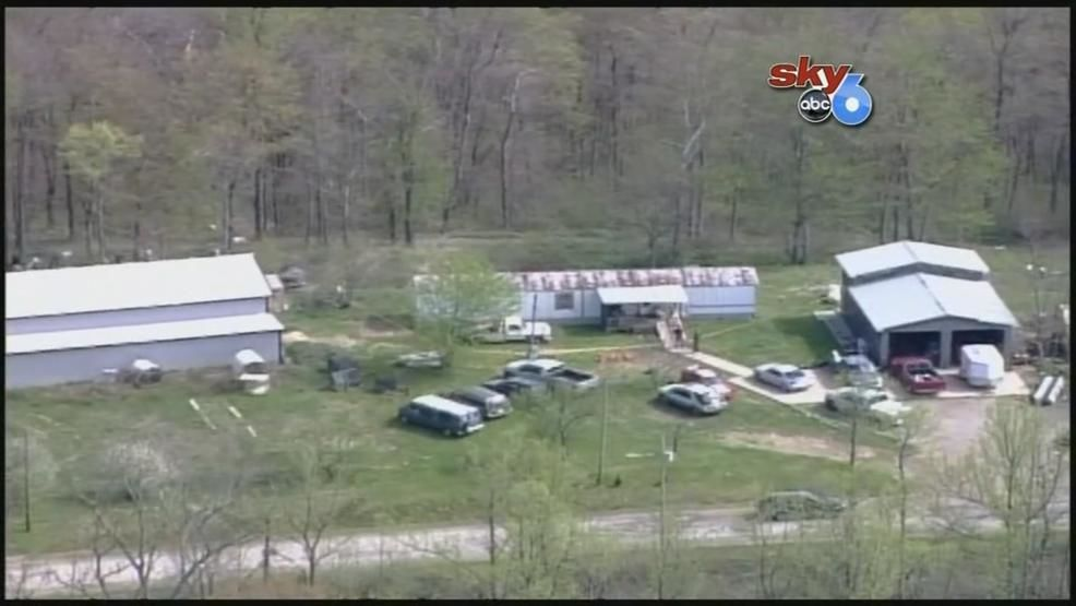 Aerials of one of the scenes on Union Hill Road being searched by investigators after the bodies were found. (WSYX/WTTE)